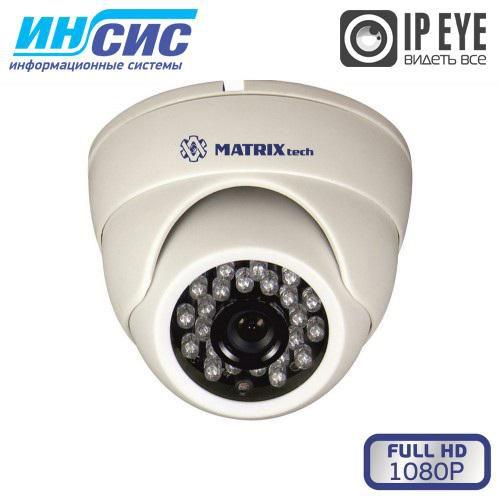Купольная сетевая камера видео наблюдения 2Mp, MT-DW1080IP20SE-M DC с микрофоном